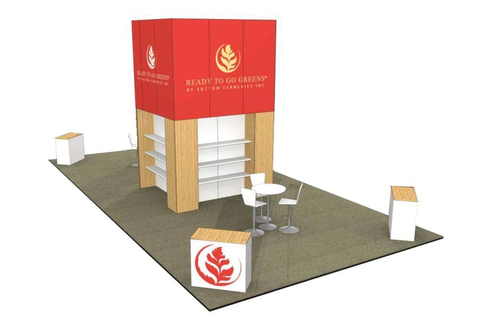 20x40 trade show exhibit rental