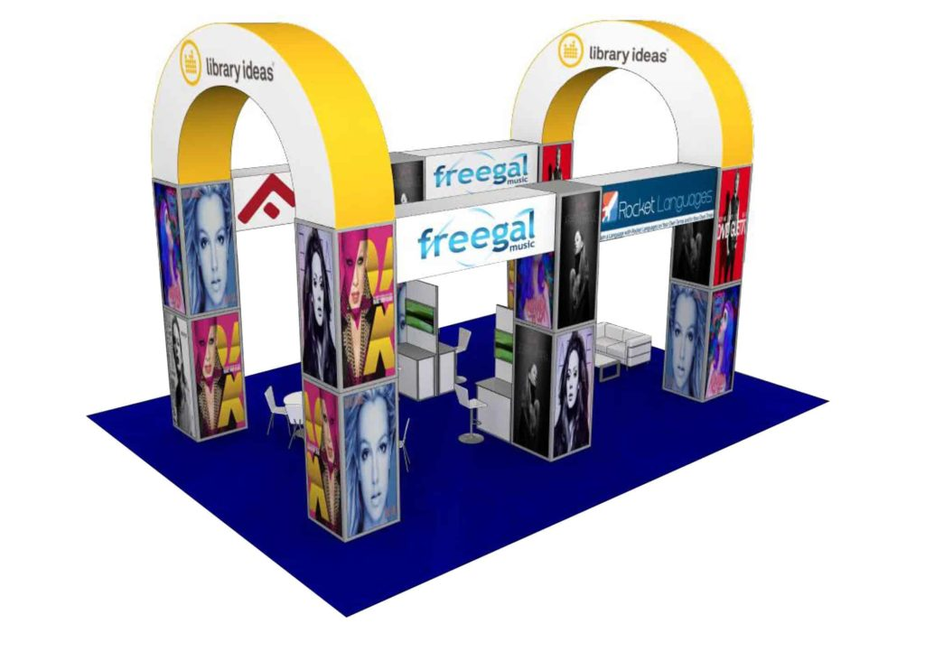 30x40 trade show exhibit rental