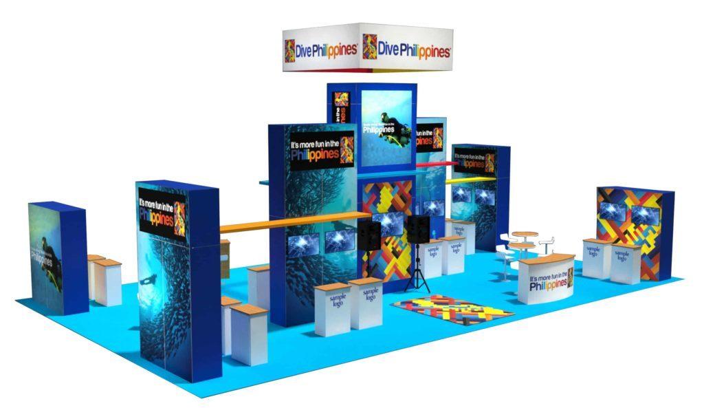 30x50 trade show rental exhibit