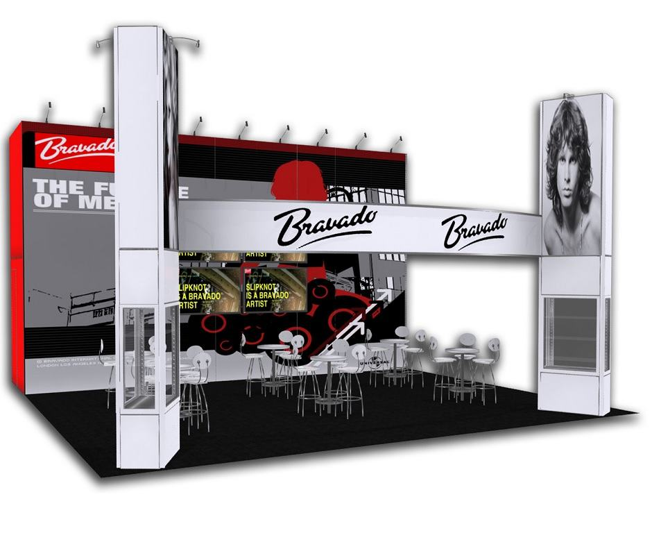 30x30 trade show exhibit rental
