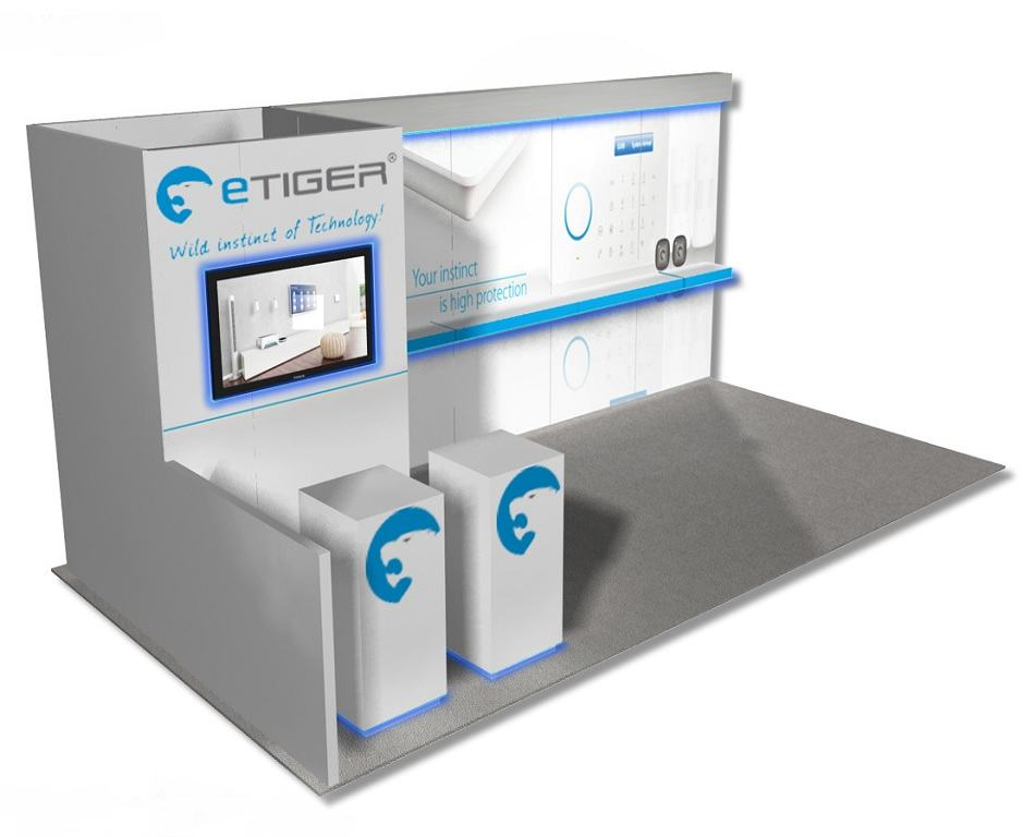 10x20 etiger rental exhibit