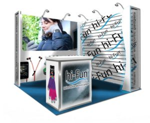 10x10 trade show rental booth