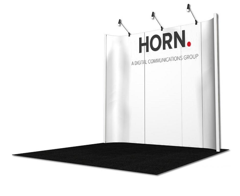 horn 10x10 rental exhibit