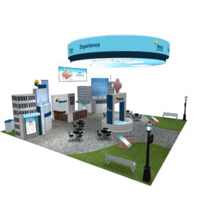 50x50 large trade show exhibit rental
