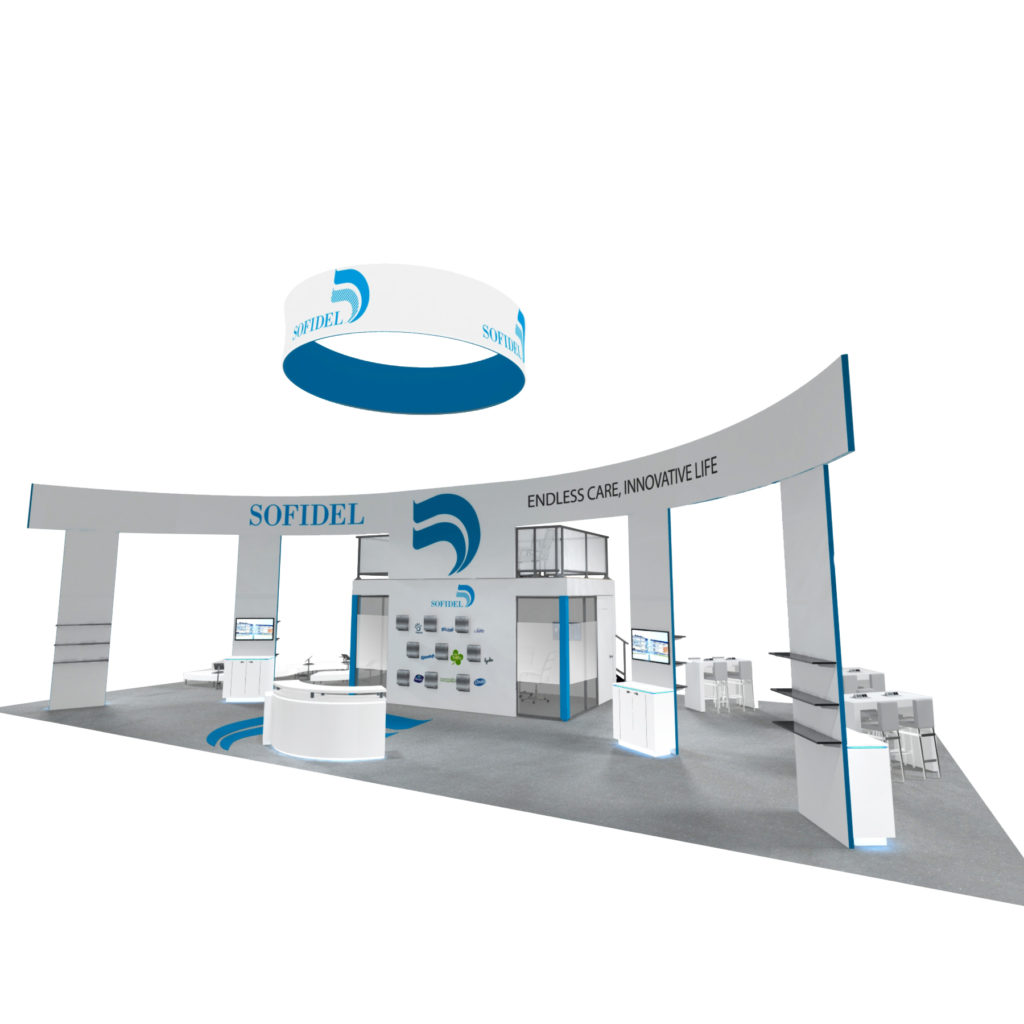 30x60 large trade show exhibit rental booth