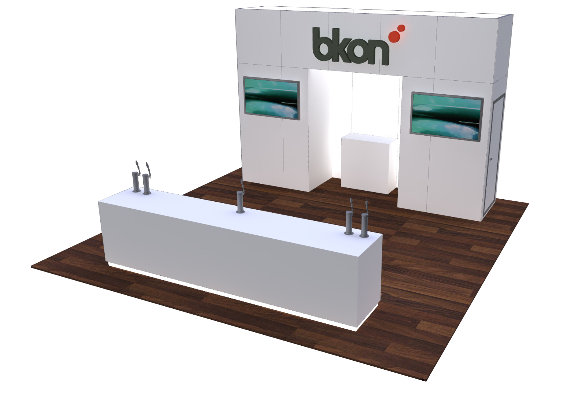 20 x 20 trade show exhibit rental